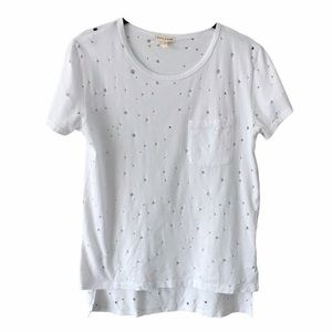 Articles of Society White Distressed White Shirt